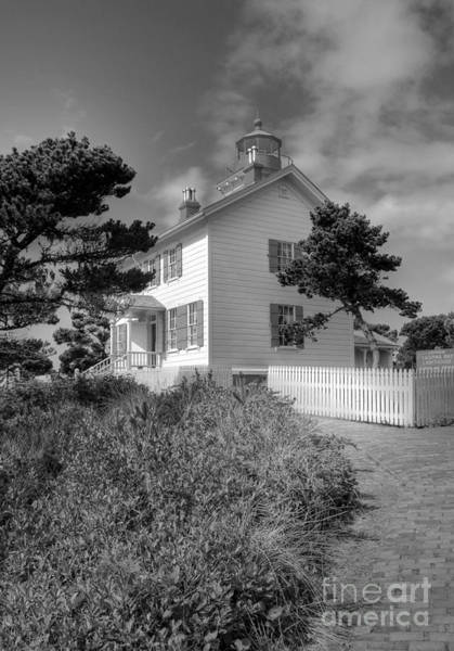 Photograph - Yaquina Bay Light 2 Bw by Mel Steinhauer