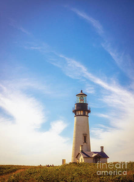 Photograph - Yaquina Head Lighthouse by Carrie Cole