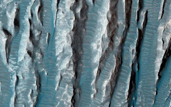 January Photograph - Yardangs On Mars by Nasa/jpl-caltech/university Of Arizona