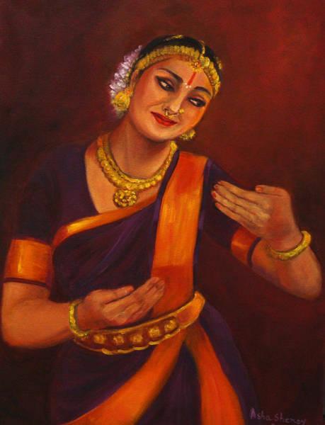 Painting - Yasodha Admiring Baby Krishna by Asha Sudhaker Shenoy