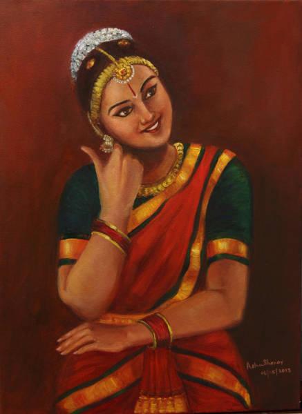 Painting - Yasodha Mother Of Krishna by Asha Sudhaker Shenoy