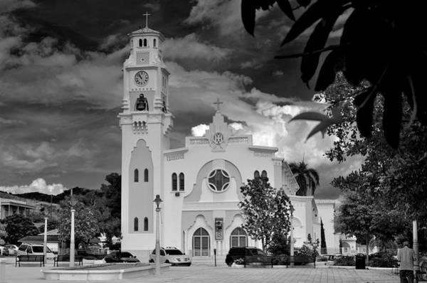 Photograph - Yauco Church B W 2 by Ricardo J Ruiz de Porras