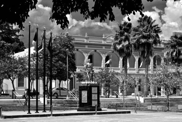 Photograph - Yauco City Hall B W 2 by Ricardo J Ruiz de Porras