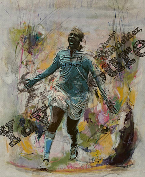 Wall Art - Painting - Yaya Toure by Corporate Art Task Force