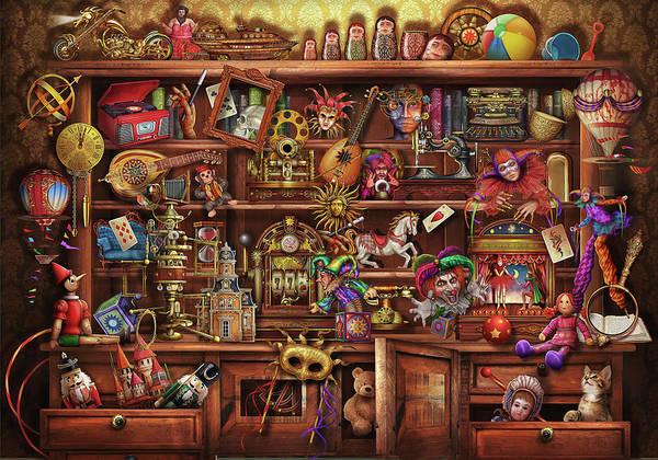 Wall Art - Drawing - Ye Olde Shopper by MGL Meiklejohn Graphics Licensing