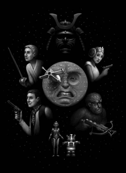 Digital Art - Ye Olde Space Movie by Ben Hartnett