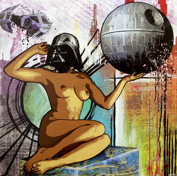 Obey Painting - Yeah I Think I'll Just Join The Dark Side by Bobby Zeik