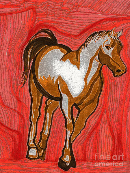 Jrr Drawing - Year Of The Horse By Jrr by First Star Art