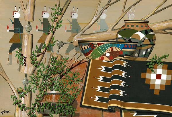 Navaho Wall Art - Painting - Yei-be-chai by John Wyckoff