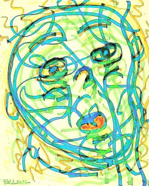 Cuckoo Drawing - Yelling by UrbanHippie BrownieCat