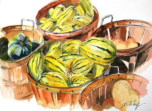 Painting - Yellow Abundance by Betty M M   Wong