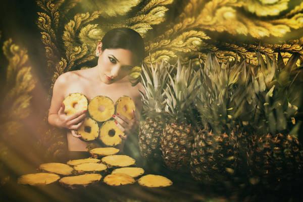 Pineapple Photograph - Yellow by Alexandra Fira