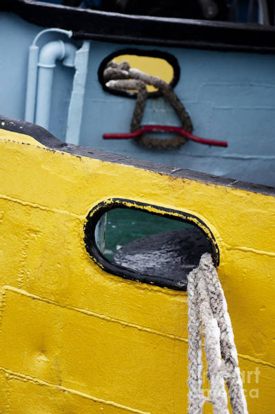 Photograph - Yellow And Blue Boat by Agnieszka Kubica