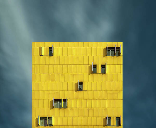 Homes Photograph - Yellow And Blue by Vladi Garcia