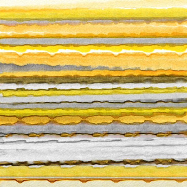 Painting - Yellow And Gray Stripes Art by Lourry Legarde