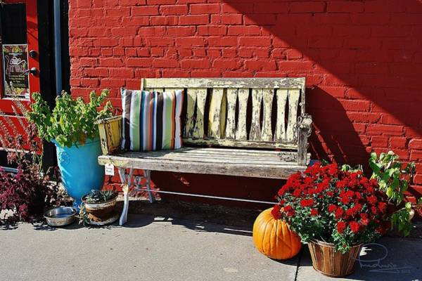 Photograph - Yellow Bench by Ludwig Keck