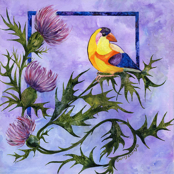 Painting - Yellow Bird by Sherry Shipley