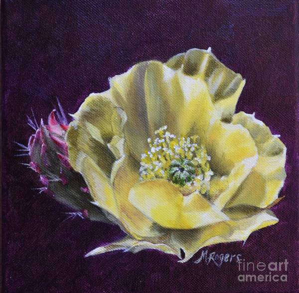 Mary Rogers Painting - Yellow Bloom by Mary Rogers