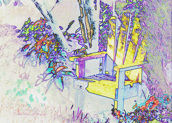 Photograph - Yellow Chair 'find Edges by Richard J Thompson