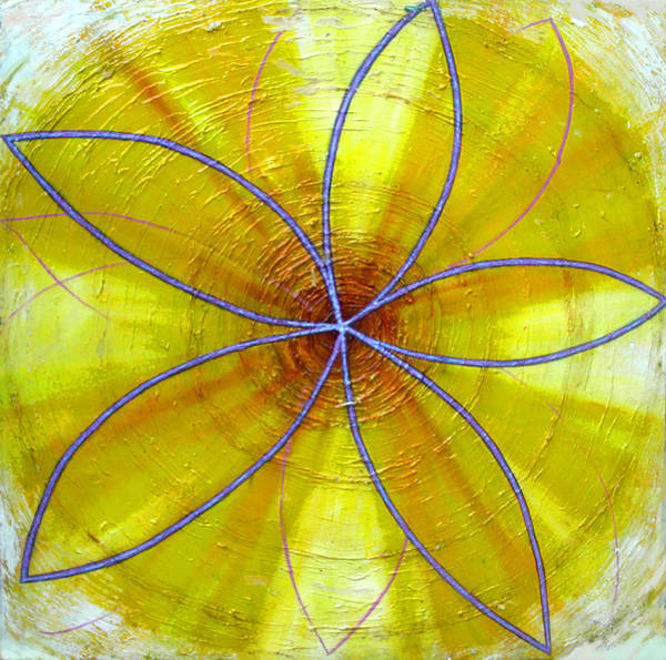 Painting - Yellow Chakra by Anne Cameron Cutri