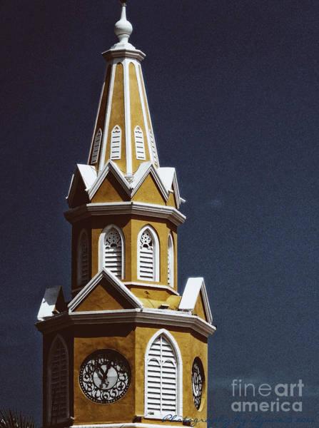 Photograph - Yellow Clock Tower by Gena Weiser
