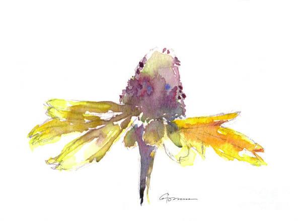 Coneflower Painting - Yellow Coneflower 2 by Claudia Hafner