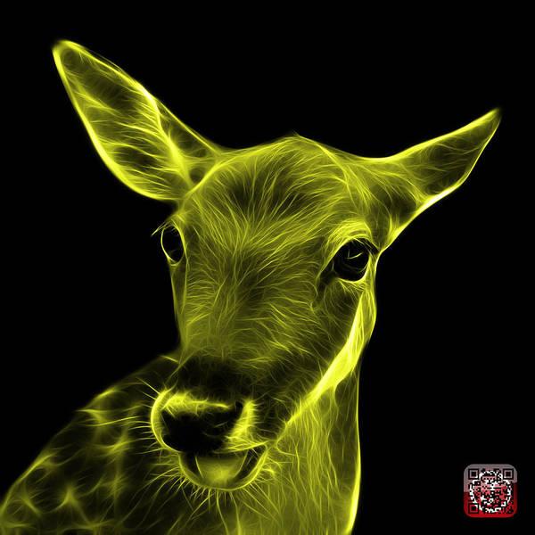Digital Art - Yellow Deer - 0401 F by James Ahn
