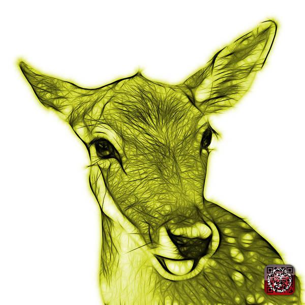 Digital Art - Yellow Deer - 0401 Fs by James Ahn