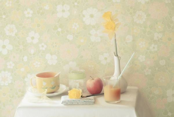 Pastel Photograph - Yellow by Delphine Devos