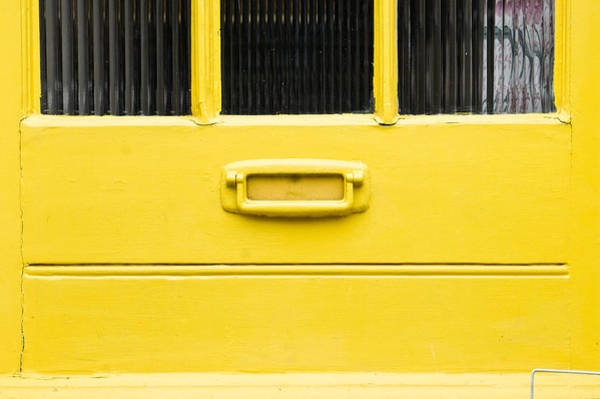 Entry Photograph - Yellow Door by Tom Gowanlock