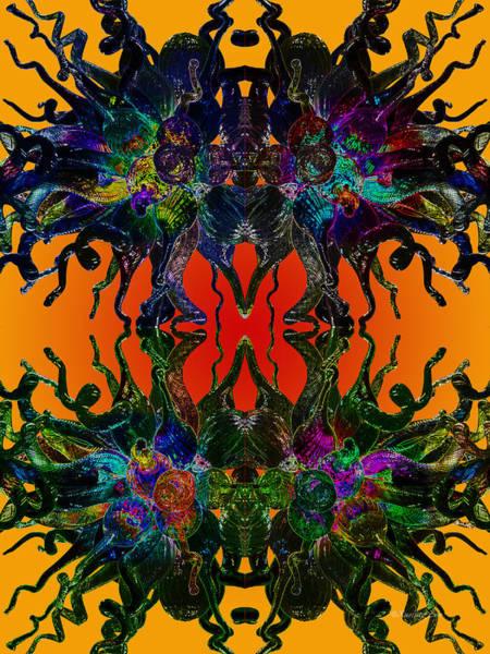Digital Art - Yellow Dragon Power by Xueling Zou