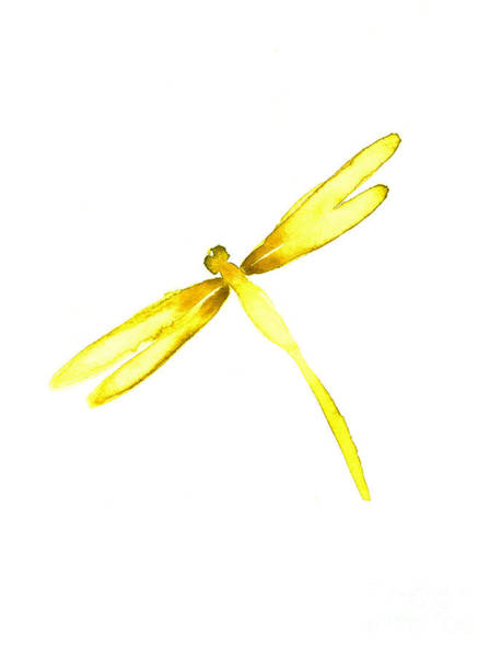 Lightning Painting - Yellow Dragonfly by Mariusz Szmerdt