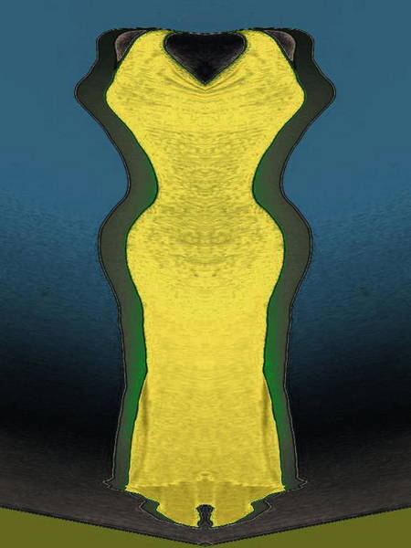 Digital Art - Yellow Dress by Mary Russell