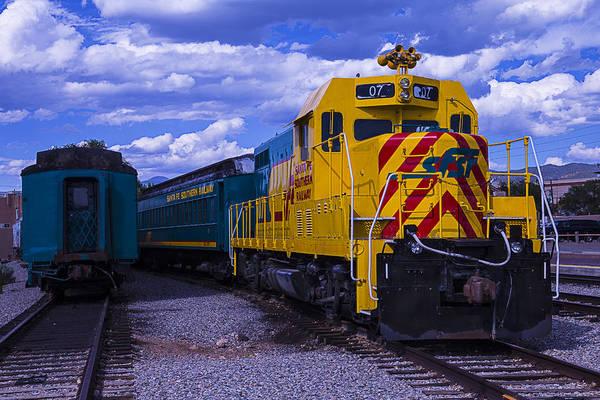 Commuter Rail Wall Art - Photograph - Yellow Engine 07 by Garry Gay