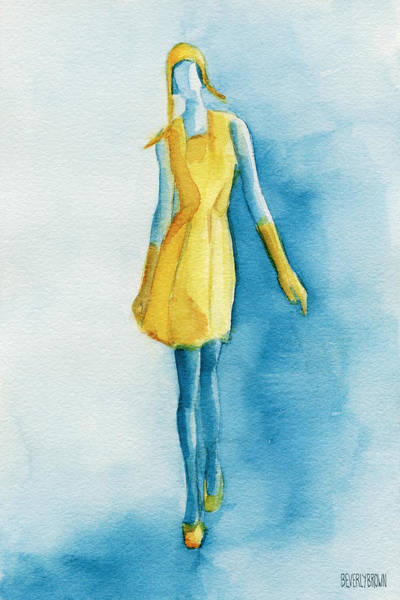 Painting - Yellow Ensemble - Watercolor Fashion Illustration by Beverly Brown