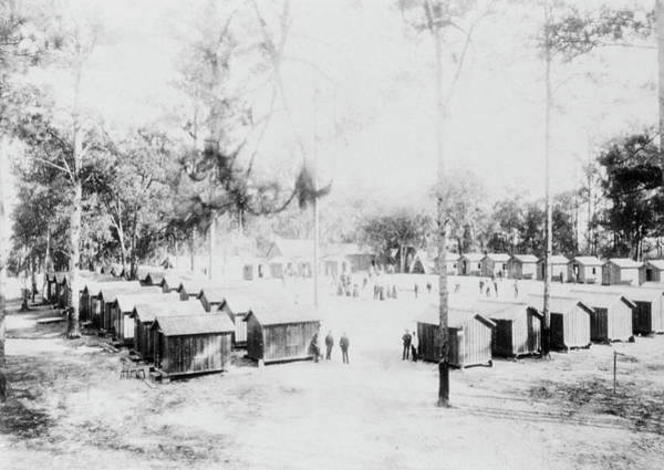 1888 Photograph - Yellow Fever Camp by National Library Of Medicine/science Photo Library