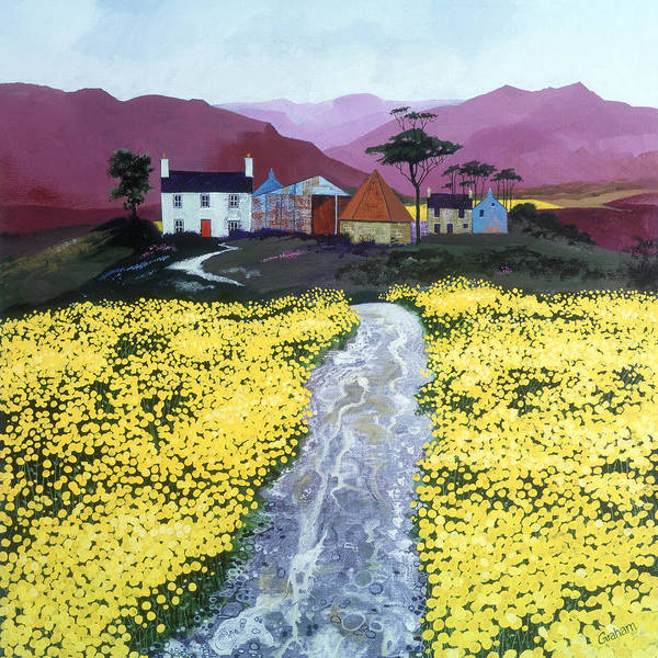 Fife Painting - Yellow Fields by Graham Clark