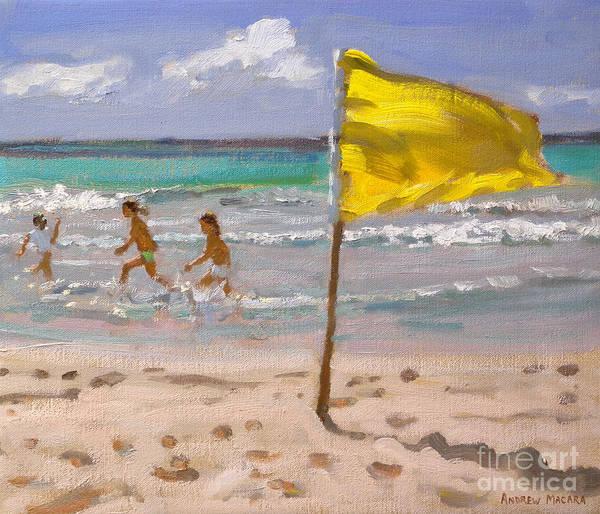 Macara Wall Art - Painting - Yellow Flag  Barbados by Andrew Macara