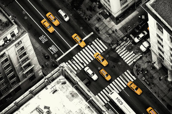 Traffic Photograph - Yellow Flow by Stefan Kl?ren
