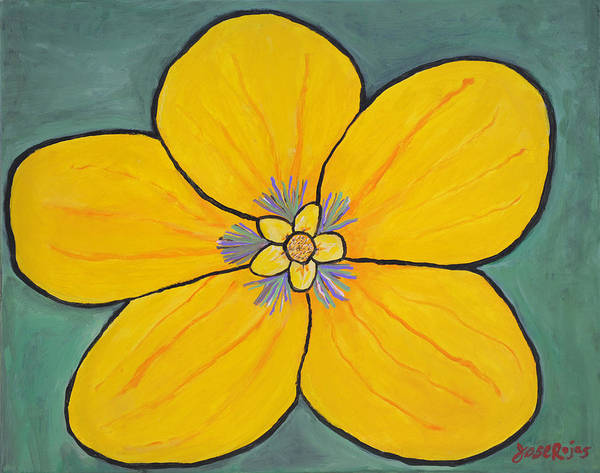 Painting - Yellow Flower by Jose Rojas