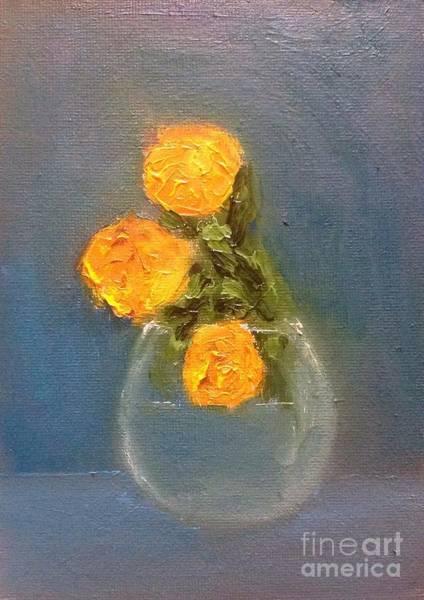 Gitana Wall Art - Painting - Yellow Flowers by Gitana Banks