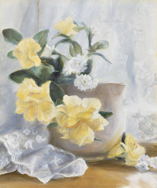 Painting - Yellow Flowers by Lucie Bilodeau