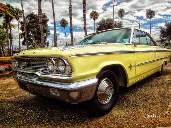Digital Art - Yellow Ford by Bob Winberry