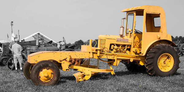 Photograph - Yellow Grader by Guy Whiteley