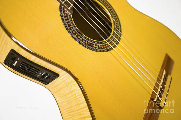 Photograph - Yellow Guitar by Richard J Thompson