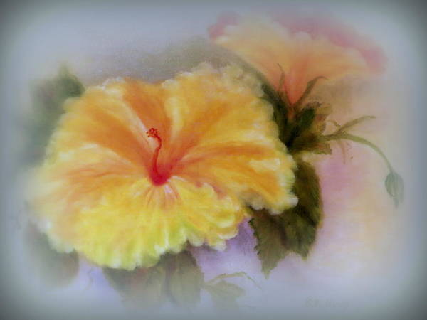 Mallow Family Wall Art - Painting - Yellow Hibiscus by Kay Novy