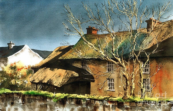 Painting - Yellow House In Adare  Limerick by Val Byrne