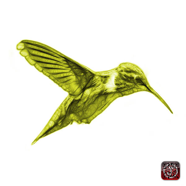 Digital Art - Yellow Hummingbird - 2054 F S by James Ahn