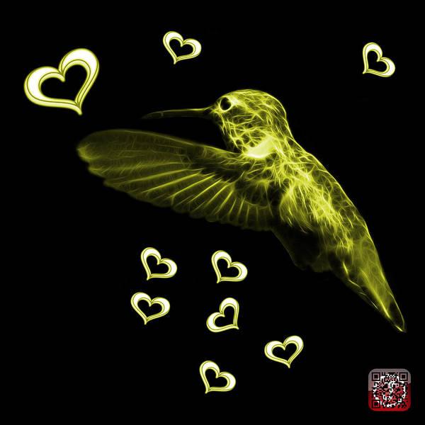 Digital Art - Yellow Hummingbird - 2055 F M by James Ahn
