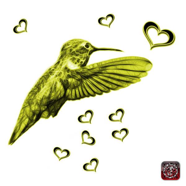 Digital Art - Yellow Hummingbird - 2055 F S M by James Ahn